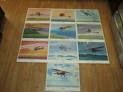 Collection of (10) Charles H. Hubbell Military Aircraft Lithograph Prints