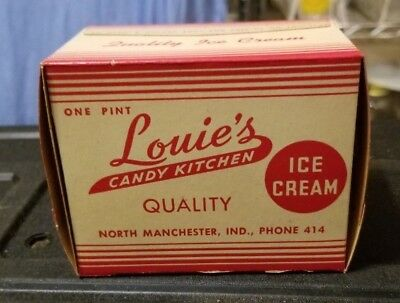 1940's Louie's Ice Cream Boxes From  Manchester Indiana 10 Piece Lot Nos
