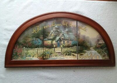 "Thomas Kinkade ""blessing Of Home "" 3 Plate Set Numbered"