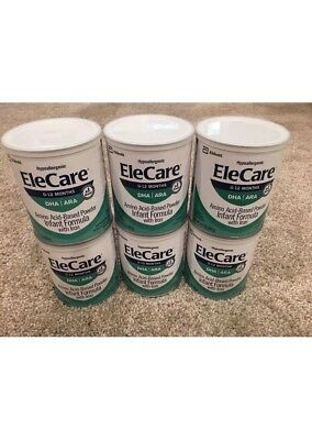 6 Cans of EleCare Infant Powder Formula 14.1oz cans -- Exp. February 2020