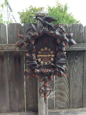 8  Spring Driven Cuckoo Clock black forest style made in Portugal 1951