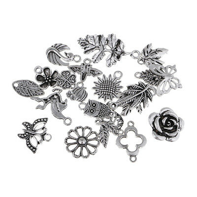 100Pcs Alloy Mixed Styles Jungle Style Charms Pendant for Jewelry Making DIY