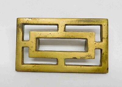 Vintage Solid Brass MCM Asian Drawer Pull Handle Knob, (24 Available)