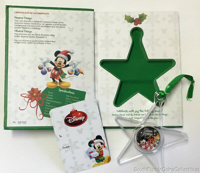 2015 Niue $1 Disney Season's Greetings 1/2 Troy Ounce 999 Proof Silver Coin