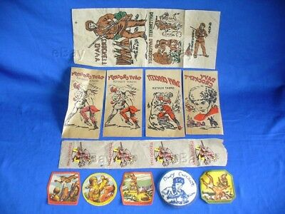 Vintage Davy Crockett Character Iron On Transfer Patch Lot Disney Fess Parker