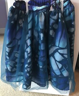 Gymboree Girls BUTTERFLY Floral Overlay Tulle Skirt Size 8 Back To School NWT