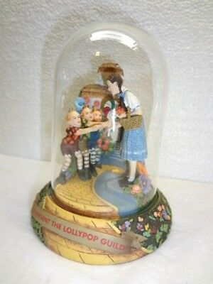 Rare Wizard of Oz WE REPRESENT THE LOLLYPOP ! Musical Figurine Under Glass Dome
