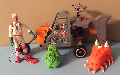GHOSTBUSTERS ECTO-2 HELICOPTER Vintage Vehicle Egon Figure Trap Ghost Lot