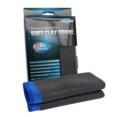 "12""x12"" Microfiber Clay Bar Mitt Auto Car Detailing Cloth Cleaning Care Towels"