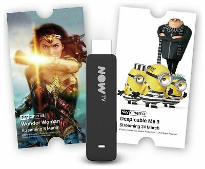 NOW TV Smart Stick Full HD 1080p Voice Search with 1 Month Sky Cinema Pass.
