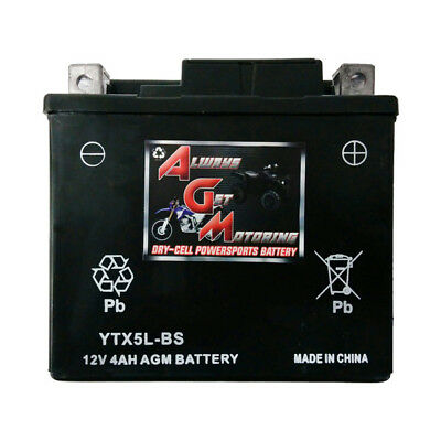 Sealed Agm Agm5L-Bs (Ytx5L-Bs) 12 Volt 4Ah