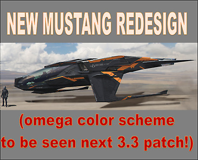 STAR CITIZEN PLEDGE ~ MUSTANG OMEGA RACING SHIP package RARE never offered again