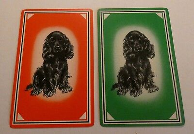 2 Vintage Dog Single Swap playing cards Cocker Spaniel A27