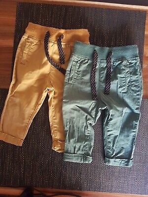 Baby Boy Size 0 (6-12 Month) Chino Pants Two Pairs great used condition