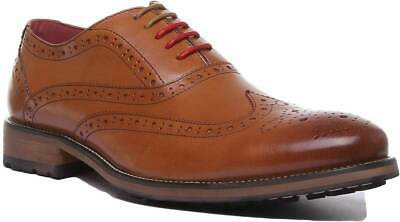 01f861f08b7 JUSTIN REECE CALVIN Leather Suede Combination Brogue Lace up Size 6 ...