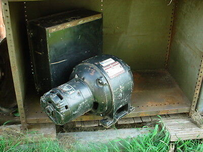 3 phase converter GE electric motor single phase 220/440 volts 5 hp mill lathe