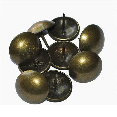 100Pcs Antique Bronze Upholstery Nail Sofa Decorative Tack Jewelry Gift Box G9A