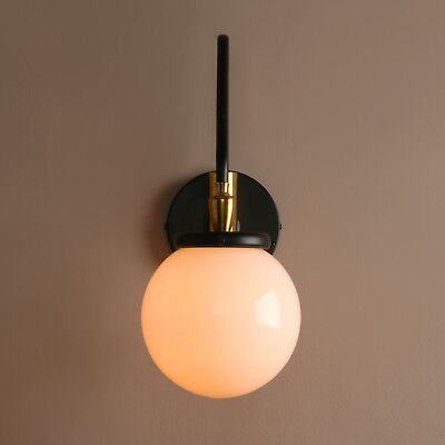 """5.9""""white Globe Glass Shade Vintage Industrial Wall Lamp Sconce Adjustable Light"""