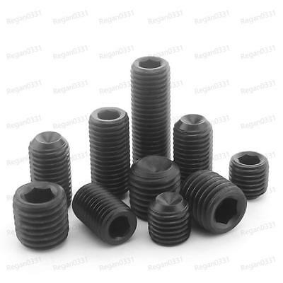 M4 / M5 / M6 Black Alloy Steel Hex Socket Set Screws Cup Point Grub Screw DIN916