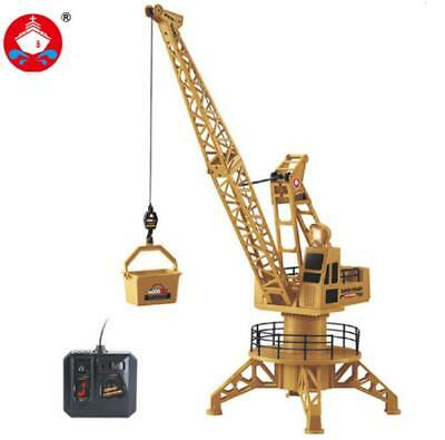 Electric Crane Remote Control Engineering Vehicle Tower Model Toy Gift for Kids