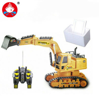 7CH Excavator Model with Music Lighting Remote Control Charging Toy Gift for Kid