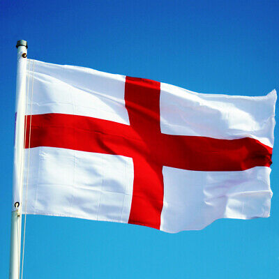 LARGE England Flag 5x3ft English St George Cross Football World Cup Four Lions