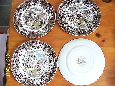 "Royal Tudor Ware, Staffordshire Eng 10"" Dinner plates & 9"" soup or cereal plates"