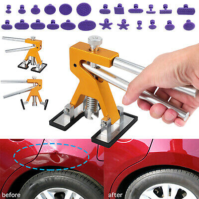 24 Tab Car Paintless Dent Repair Tool Dint Hail Damage Remover Puller Lifter Kit