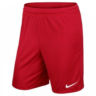 Nike Park II Knit Dri Fit Mens Adults Sports Football Casual Gym Shorts Red