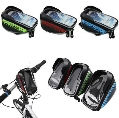 """5.5"""" Universal Cycling Bike Bicycle Front Frame Bag Pouch Phone Holder Case ZH"""