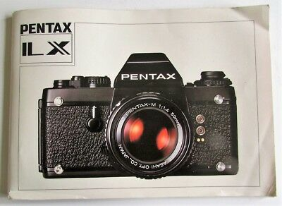 Pentax Ilx User Manual.  64 Pages, Fair Condition.