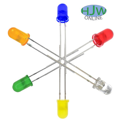 10pcs 20pcs 5mm led red green blue orange yellow white multi colour