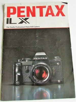 Pentax Ilx A4 Sales Booklet/brochure  24 Pages.  Complete, A Bit Tatty