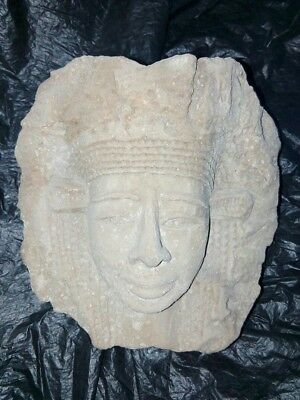 Rare Antique Ancient Egyptian limestone Head of queen 0 bc