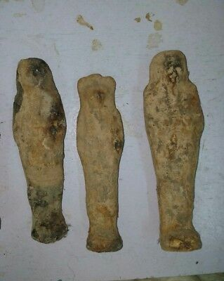 Rare Antique Ancient Egyptian 3 mummy ushabti bc