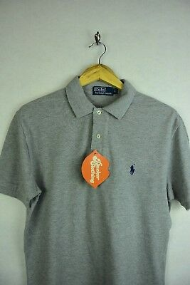 Mens RALPH LAUREN Polo Shirt CLASSIC Fit Short Sleeve Grey Small EXCELLENT P45