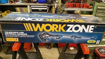 WORKZONE Telescopic LED Drywall Sander Electric Sander For Walls Ceilings 710 W