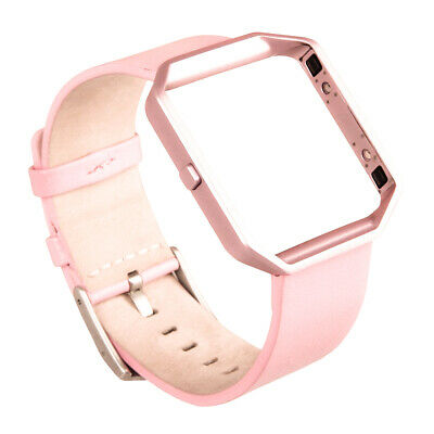 For Fitbit Blaze Smart Watch Replacement Genuine Leather Strap Wrist Band+Frame