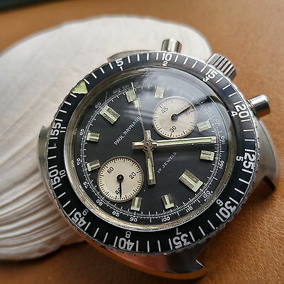 Vintage Paul Raynard Two Register Diver Chronograph w/Heavy Duty All SS Case