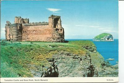 Used Postcard Of Tantallon Castle, North Berwick, Scotland