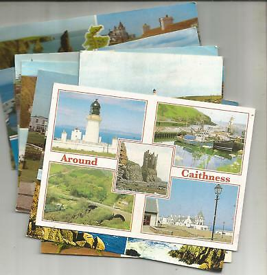 10 Postcards From Caithness, Scotland Plus 2 Similar Unposted Lettercards
