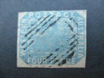 Western Australia Stamps: 4d Blue Swan Imperf  Used - Great Item   {q3}