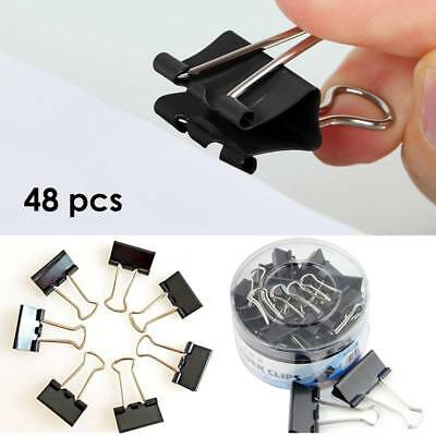 48 Pcs 25mm Binder Clip Metal Classic Office Stationery Paper Documents Clip