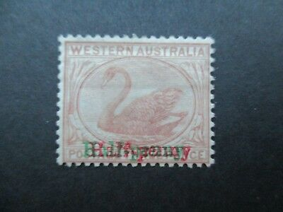 Western Australia Stamps: 1893 Red and Green Overprint Mint {q42