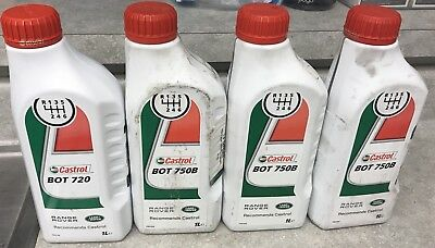 x4 L Castrol BOT 750B Rear Differential Oil Jaguar Range Rover C2P25272 C2D3653