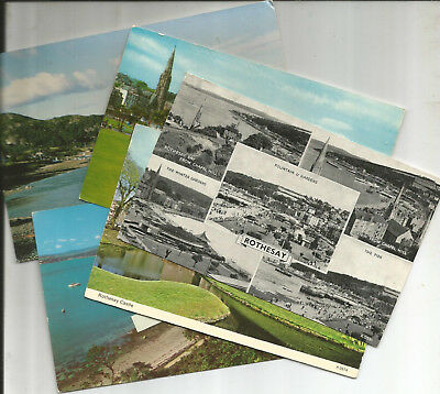5 Postcards Of The Island Of Bute, Scotland