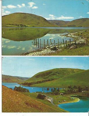 2 Postcards Of St Mary's Loch, Selkirkshire, Scotland,