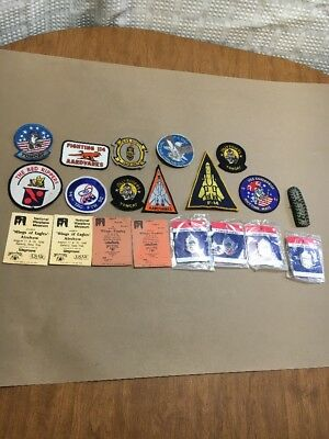 20 Piece Lot of Vintage Military Pins Patches Aardvarks Fighting 114 F-14 Tomcat