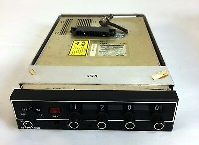 Bendix King KT76A Transponder with rack and connectors 8130-3 Yellow Tag