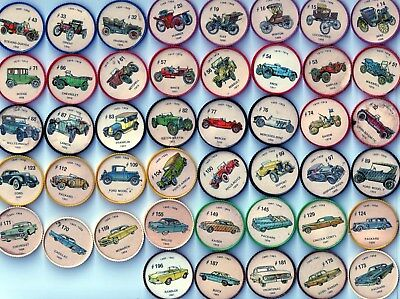 Great Starter Set of 45 Different Jello Car Wheels from 1960's